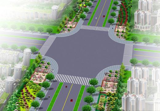园林工程_景观套图_绿化施工_景观规划_道路地面铺装