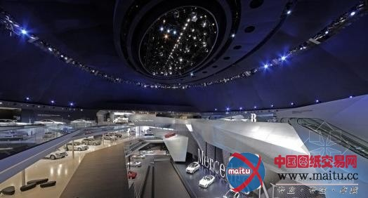 德国法兰克福奔驰展厅-室内设计-中国图纸交易网