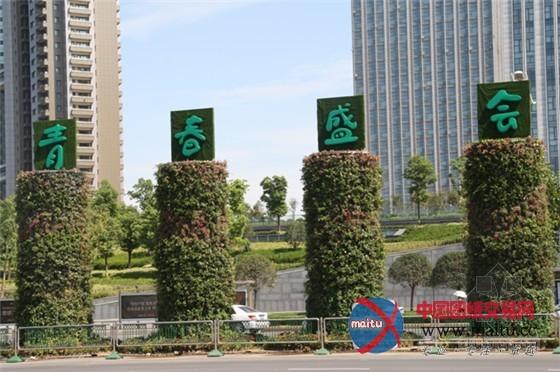 竹子手绘景观节点